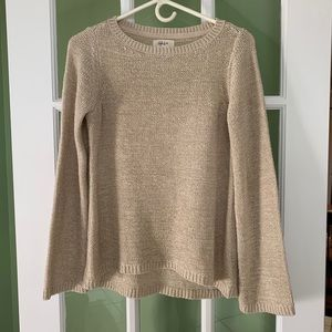 Style & Co high low sweater bell sleeves S oatmeal